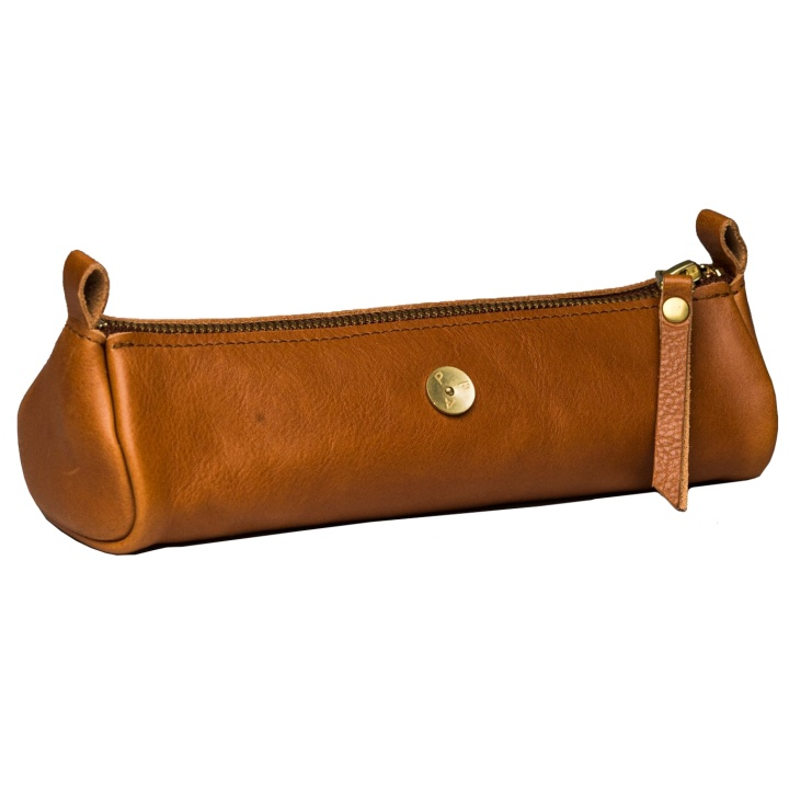 Zazza Leather Pen Case Cognac in the group Pens / Pen Accessories / Pencil Cases at Pen Store (104910)