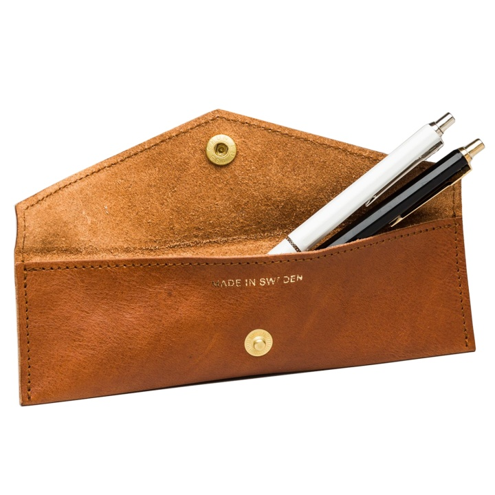 Pennie Leather Pen Case Cognac in the group Pens / Pen Accessories / Pencil Cases at Pen Store (104912)
