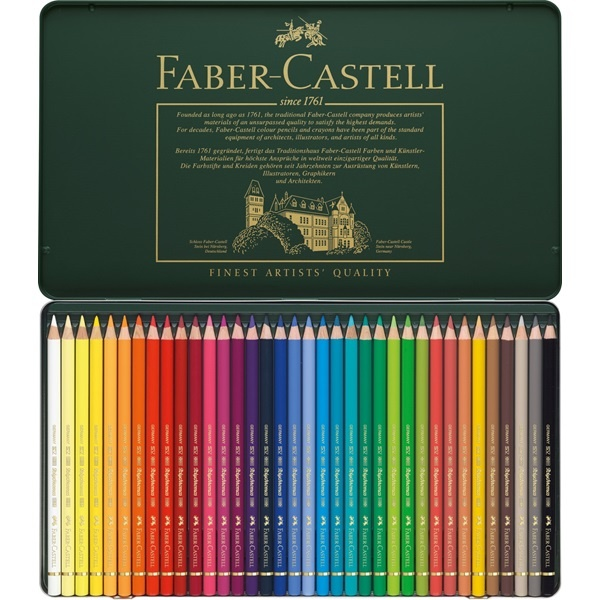 Colouring pencils Polychromos 36-set in the group Pens / Artist Pens / Colored Pencils at Pen Store (105076)