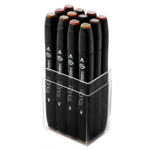 Twin Marker 12-set Wood in the group Pens / Artist Pens / Felt Tip Pens at Pen Store (105528)
