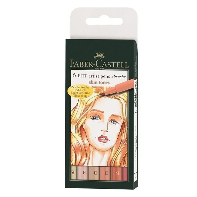 PITT Artist Brush 6-set Light Skin Tones in the group Pens / Artist Pens / Brush Pens at Pen Store (105848)