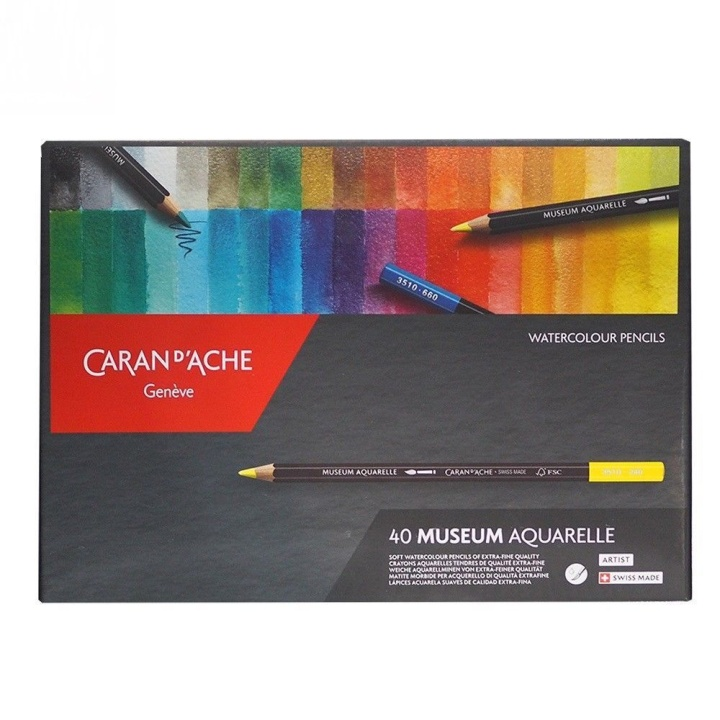 Museum Aquarelle 40-pack in the group Pens / Artist Pens / Watercolor Pencils at Pen Store (106237)