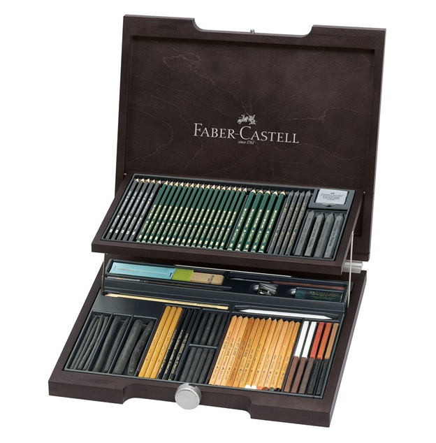 PITT Monochrome Wood Case Assortment in the group Art Supplies / Crayons & Graphite / Drawing Charcoal at Pen Store (106239)