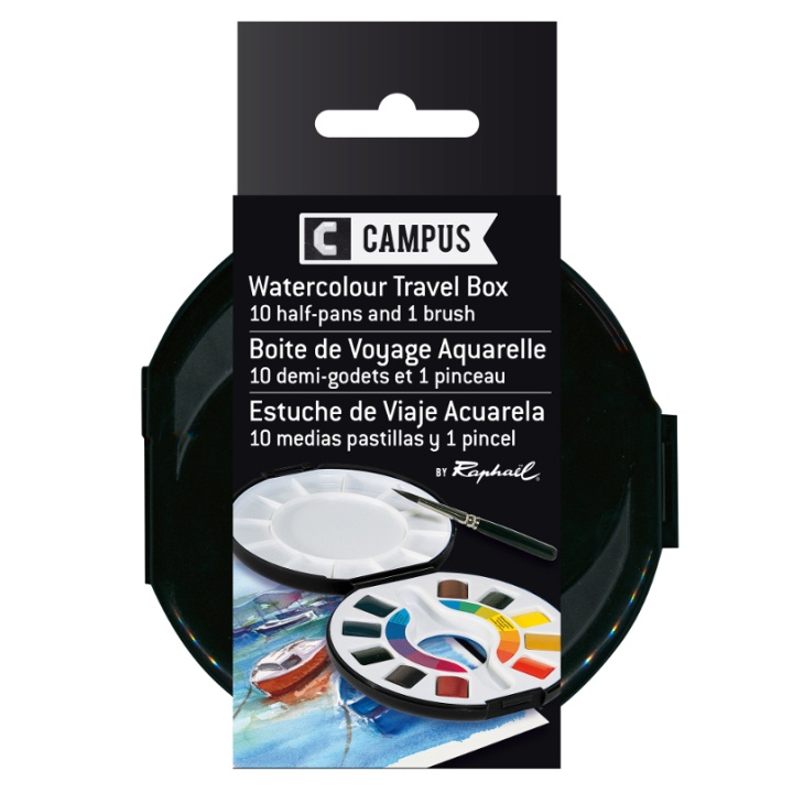 Campus Watercolor Travel Box in the group Art Supplies / Colors / Watercolor Paint at Pen Store (106245)