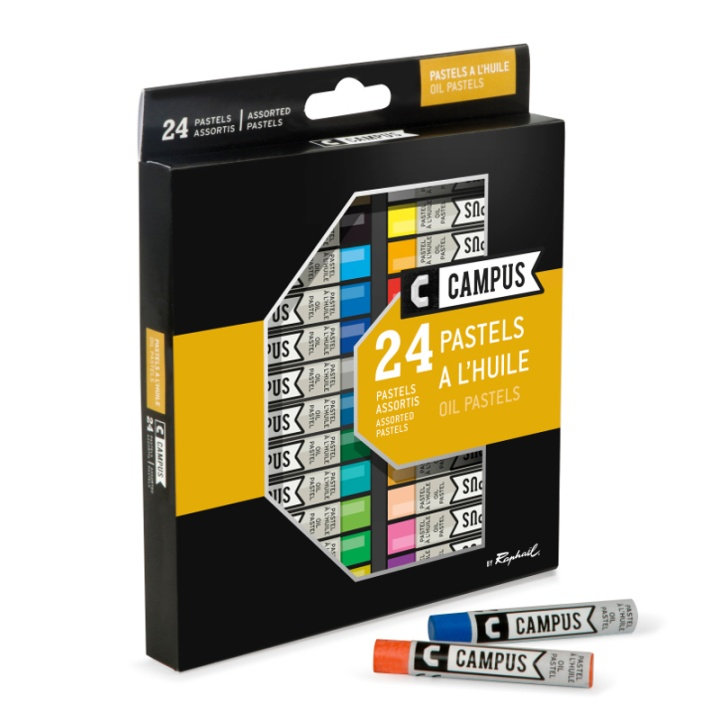 Campus 24 Pastels in the group Art Supplies / Crayons & Graphite / Crayons at Pen Store (106246)