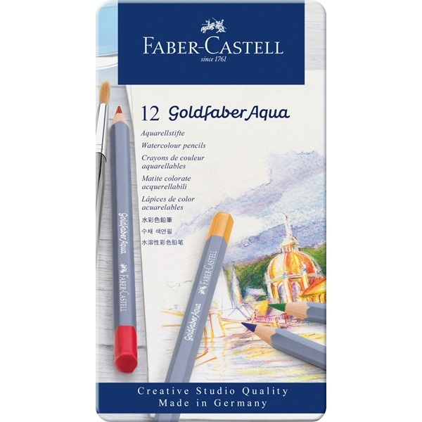 Watercolour Goldfaber Aqua 12-set in the group Pens / Artist Pens / Watercolor Pencils at Pen Store (106633)