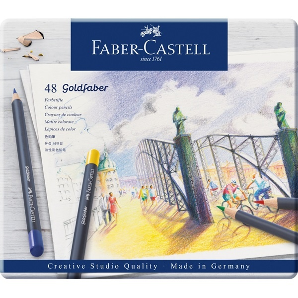 Color Pencil Goldfaber 48-set in the group Pens / Artist Pens / Colored Pencils at Pen Store (106636)