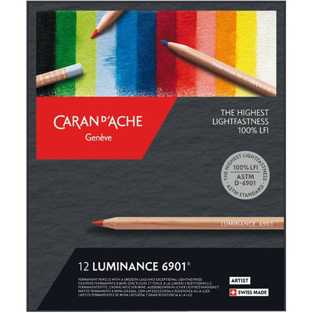 Luminance 6901 12-set in the group Pens / Artist Pens / Colored Pencils at Pen Store (106639)