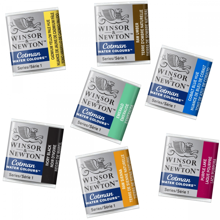 Cotman Water Color Half-pan in the group Art Supplies / Colors / Watercolor Paint at Pen Store (106850_r)