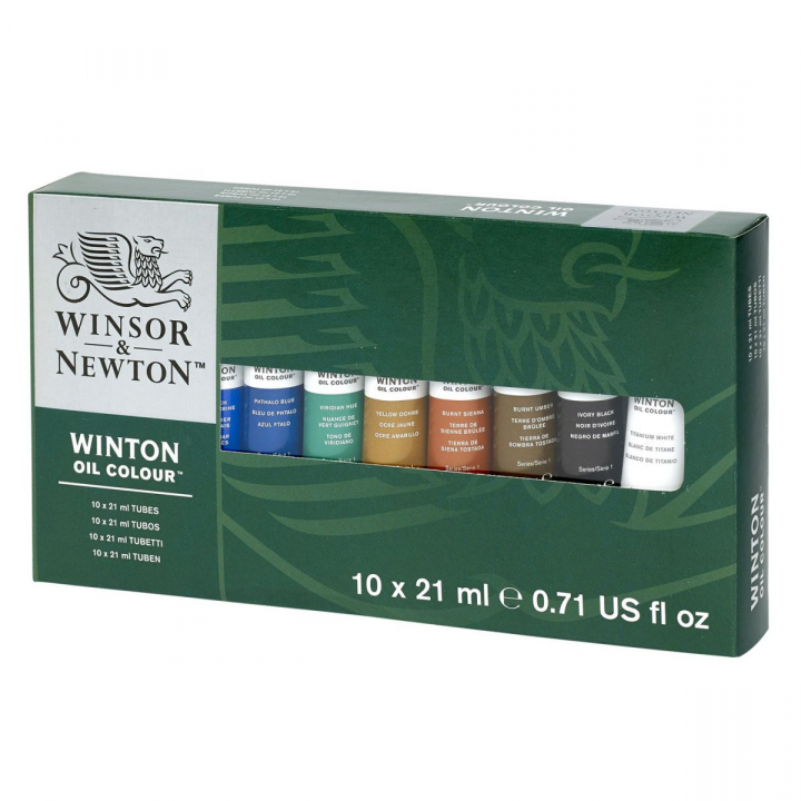 Winton Oil Color Tube 21 ml 10-set in the group Art Supplies / Colors / Oil Paint at Pen Store (107255)