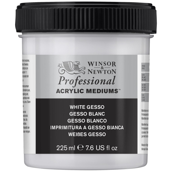 Professional AA White Gesso 225 ml in the group Art Supplies / Mediums & Varnishes / Gessos & Primers at Pen Store (107495)