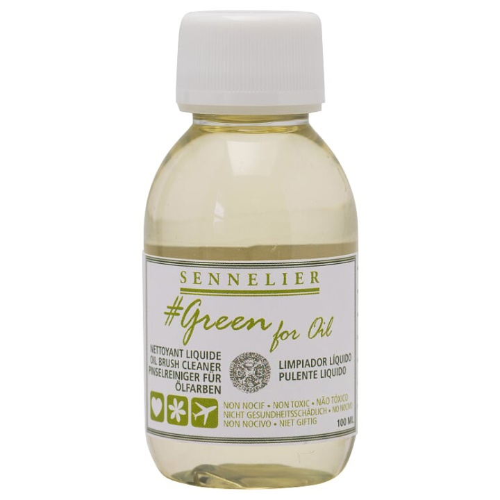 Green For Oil Brush Cleaner 100 ml in the group Art Supplies / Mediums & Varnishes / Oil Mediums at Pen Store (107520)