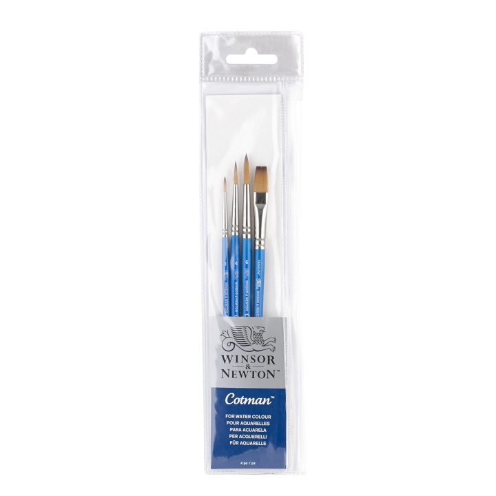 Cotman Brush 4-set in the group Art Supplies / Brushes / Synthetic Brushes at Pen Store (107654)
