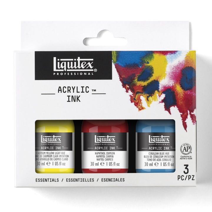 Acrylic Ink Essentials 3-set 30 ml in the group Art Supplies / Colors / Acrylic Paint at Pen Store (107723)