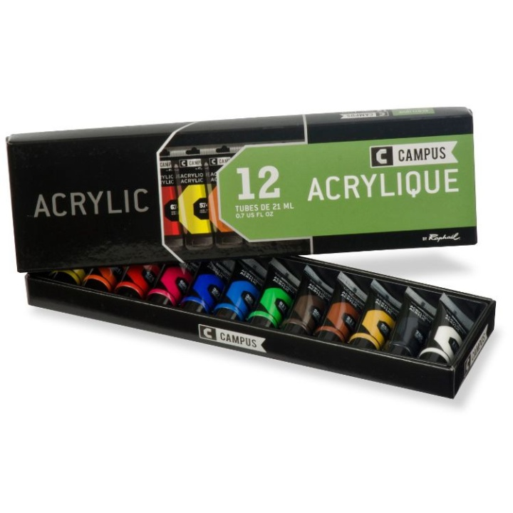 Campus Acrylic Set 12x21ml in the group Art Supplies / Colors / Acrylic Paint at Pen Store (107970)