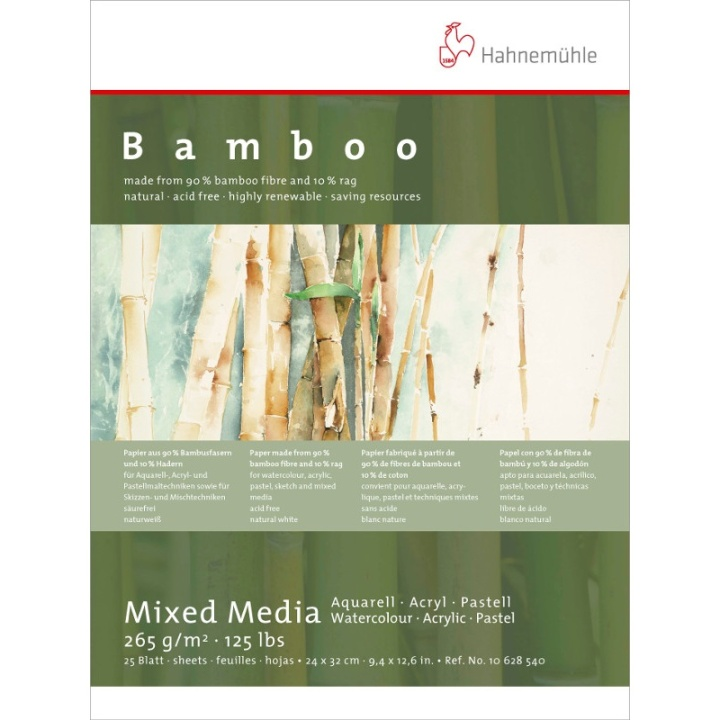 Mixed Media Bamboo 265g 24x32 cm in the group Paper & Pads / Artist Pads & Paper / Mixed Media Pads at Pen Store (108082)
