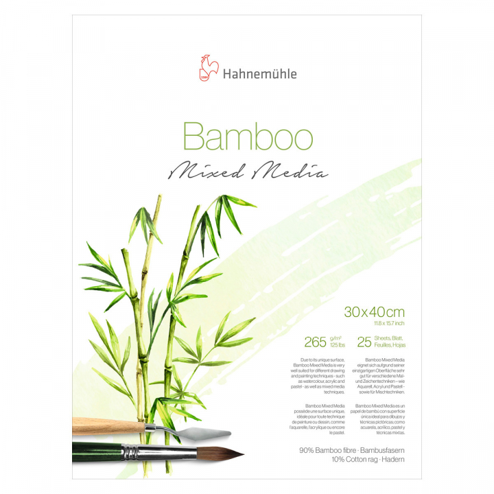 Mixed Media Bamboo 265g 30x40 cm in the group Paper & Pads / Artist Pads & Paper / Mixed Media Pads at Pen Store (108083)