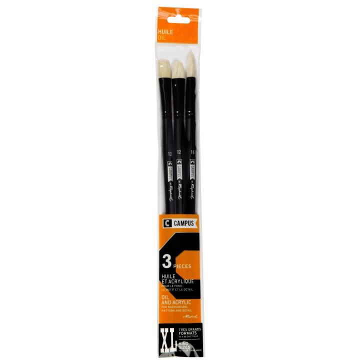 Campus Oil Brush 3-set XL in the group Art Supplies / Brushes / Synthetic Brushes at Pen Store (108375)