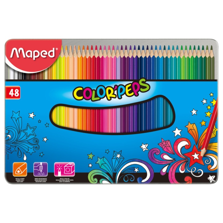 Color Peps 48 Coloured pencils - Metal Box in the group Kids / Kids' Pens / 3 Years+ at Pen Store (108766)
