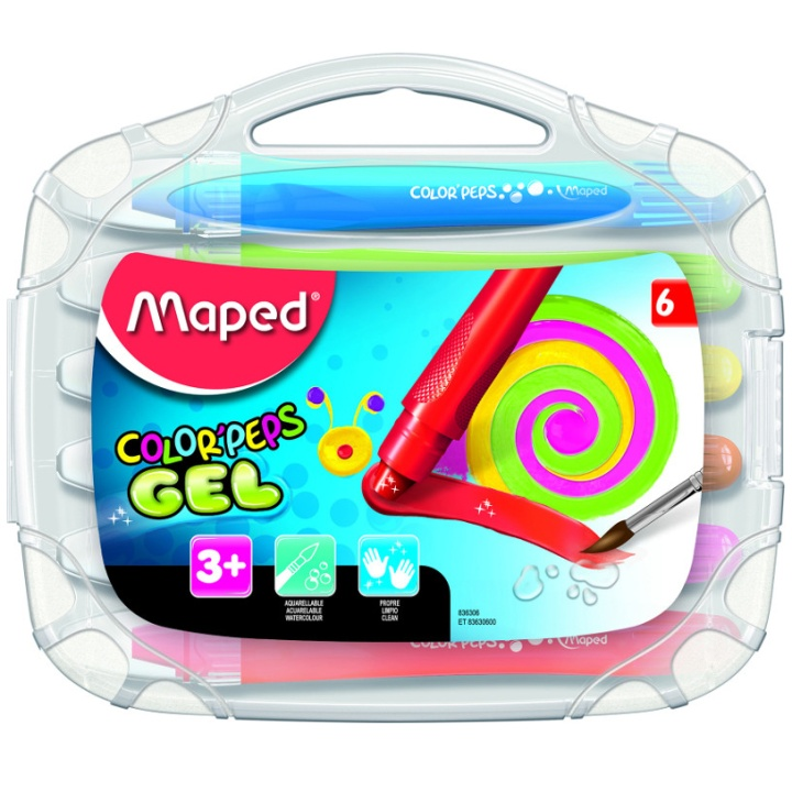 Color Peps 6 Gel Crayon in the group Kids / Kids' Pens / 3 Years+ at Pen Store (108768)