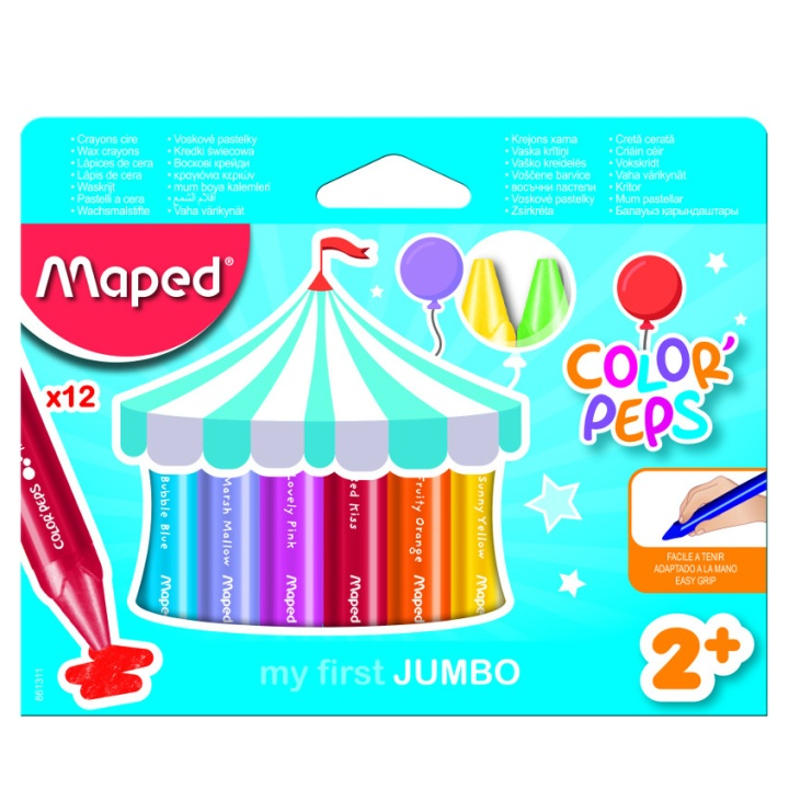 Color Peps Early Age 12 Wax Crayon Jumbo in the group Kids / Kids' Pens / Crayons for Kids at Pen Store (108775)