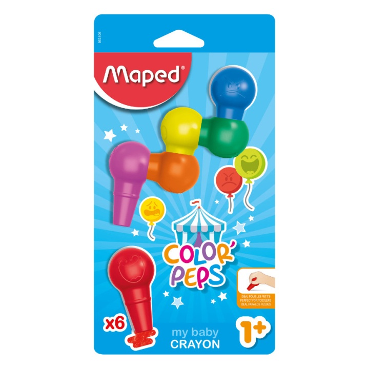 Color Peps Baby Crayons - Set of 6 in the group Kids / Kids' Pens / 0-2 Years+ at Pen Store (108776)