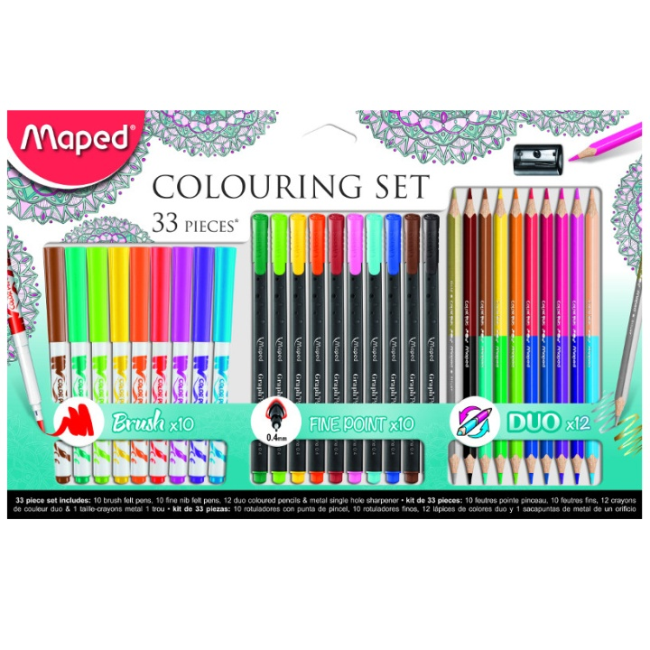 Colouring Adult Set 33 Pieces in the group Kids / Kids' Pens / Coloring Pencils for Kids at Pen Store (108778)