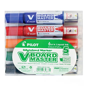 V-Board Master Chisel 5-set in the group Pens / Office / Whiteboard Markers at Pen Store (109313)
