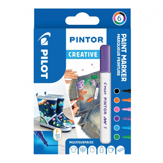 Pintor Fine 6-pack Fun in the group Pens / Office / Markers at Pen Store (109492)