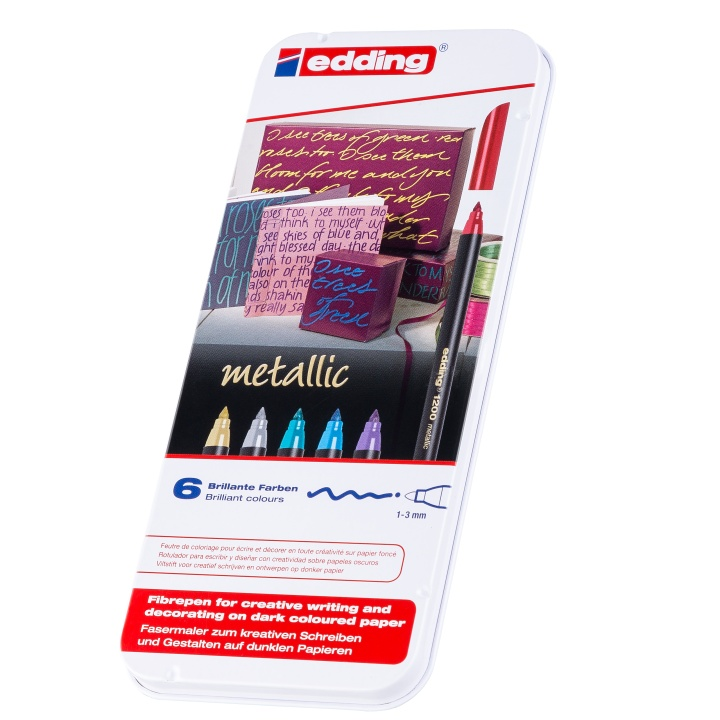 1200 Metallic Colour Pen in the group Pens / Artist Pens / Felt Tip Pens at Pen Store (110353)