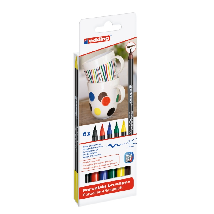 4200 Porcelain Brush Pen Family 6-set in the group Pens / Artist Pens / Felt Tip Pens at Pen Store (110369)