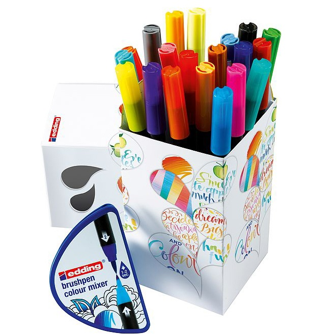 Colour Happy Box 20+1 in the group Pens / Artist Pens / Felt Tip Pens at Pen Store (110374)