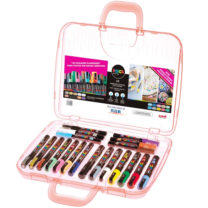 Posca Marker 20-set Suitcase in the group Pens / Artist Pens / Illustration Markers at Pen Store (110395)