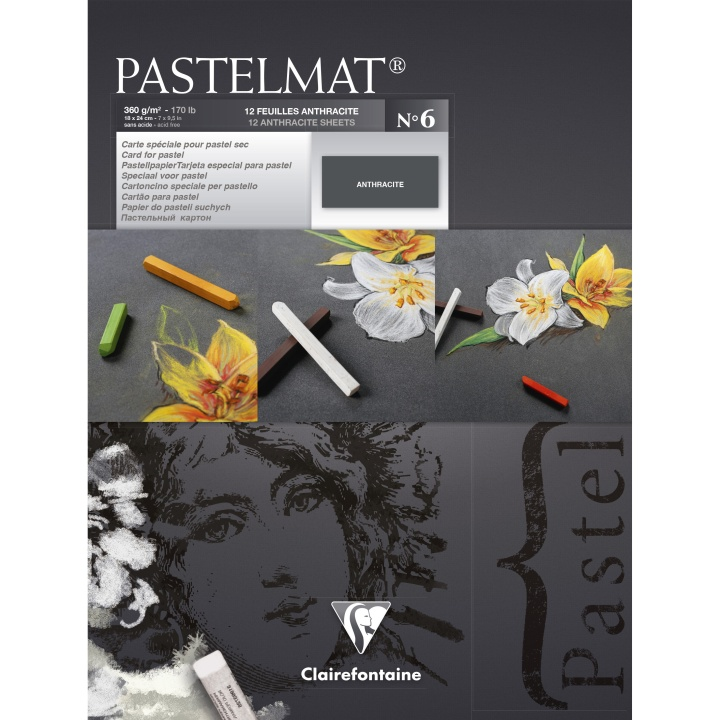 Pastelmat Anthracite 18x24 cm in the group Paper & Pads / Artist Pads & Paper / Pastel Pads at Pen Store (110408)