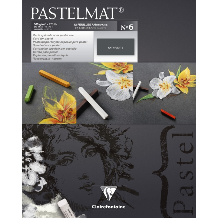Pastelmat Anthracite 24x30 cm in the group Paper & Pads / Artist Pads & Paper / Pastel Pads at Pen Store (110409)