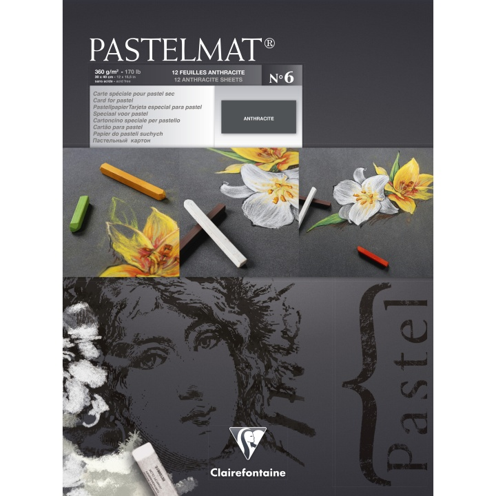 Pastelmat Anthracite 30x40 cm in the group Paper & Pads / Artist Pads & Paper / Pastel Pads at Pen Store (110410)