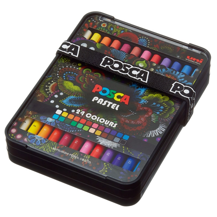 Posca Pastel Crayons 24-set in the group Art Supplies / Colors / Pastels at Pen Store (110411)