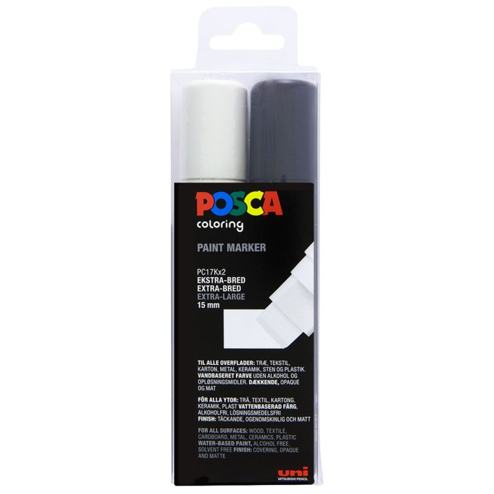 Posca PC-17K Black/White set in the group Pens / Artist Pens / Illustration Markers at Pen Store (110425)