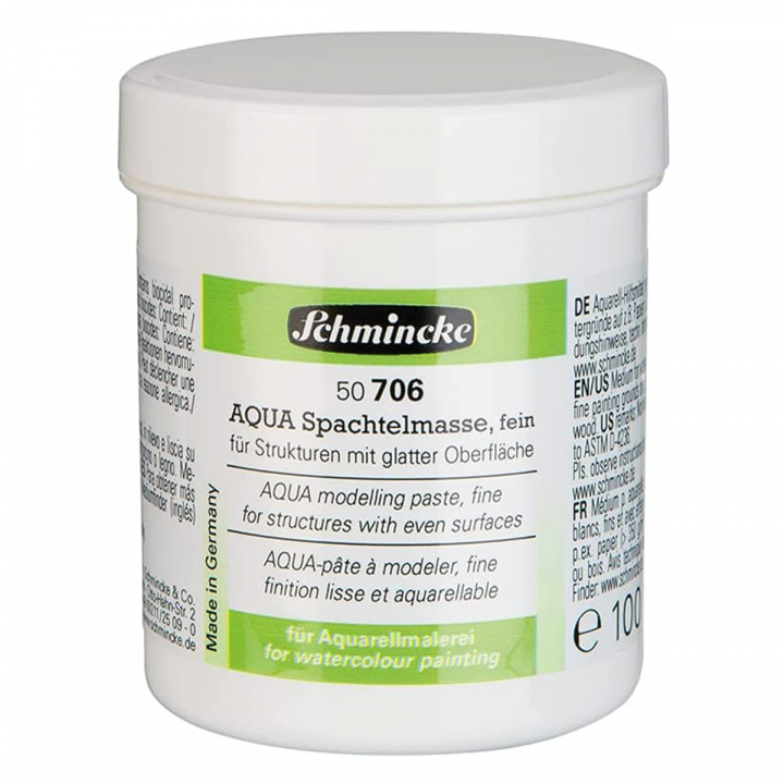 AQUA Modelling Paste Fine 125 ml in the group Art Supplies / Mediums & Varnishes / Watercolor Mediums at Pen Store (110746)