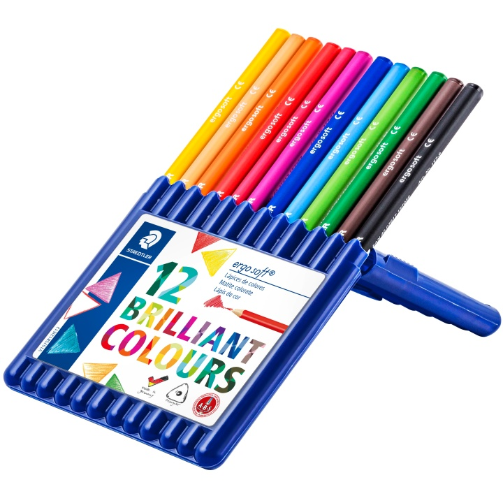 Ergosoft 12-set in the group Kids / Kids' Pens / Coloring Pencils for Kids at Pen Store (110995)