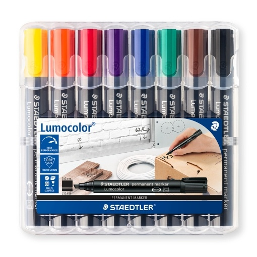 8-pack Lumocolor permanent 2 mm in the group Pens / Office / Markers at Pen Store (111006)