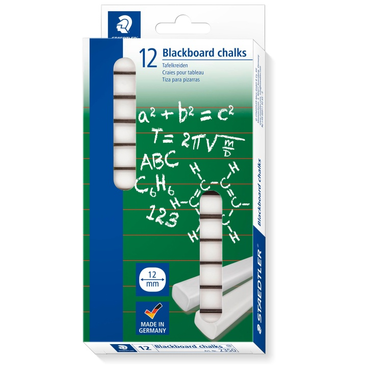 White Blackboard chalks 12-pack in the group Kids / Kids' Pens / 3 Years+ at Pen Store (111017)