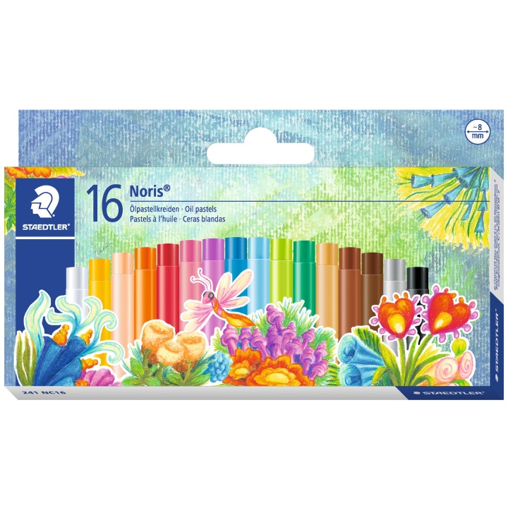 Noris Club Oil pastel 16-set in the group Kids / Kids' Pens / Crayons for Kids at Pen Store (111030)
