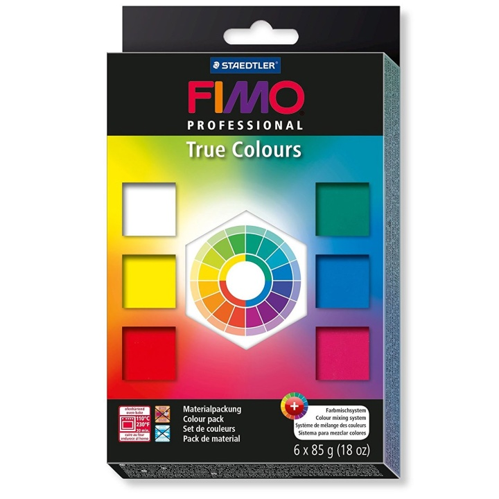 FIMO Professional 6-set True Colours in the group Kids / Kids' Paint & Crafts / Modelling Clay for Kids at Pen Store (111033)