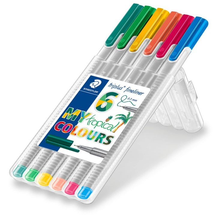 Triplus Fineliner Tropical 6-pack in the group Pens / Artist Pens / Felt Tip Pens at Pen Store (111240)