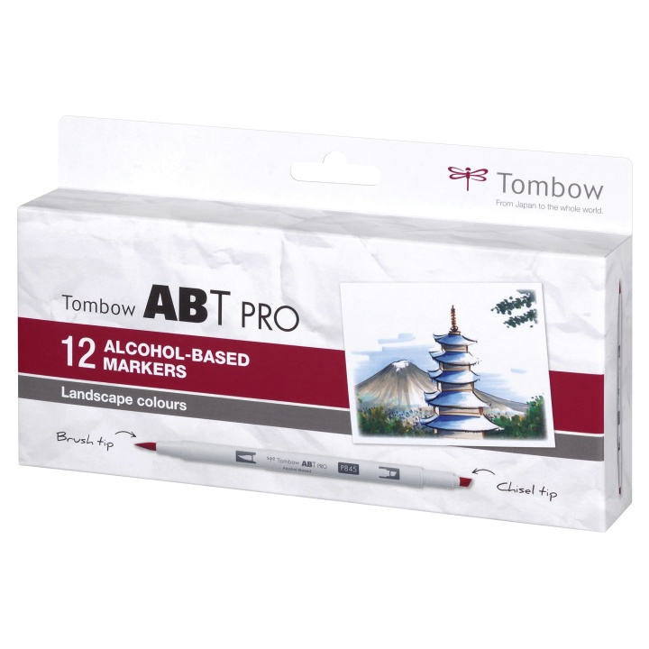 ABT PRO Dual Brush Pen 12-set Landscape in the group Pens / Artist Pens / Brush Pens at Pen Store (111439)