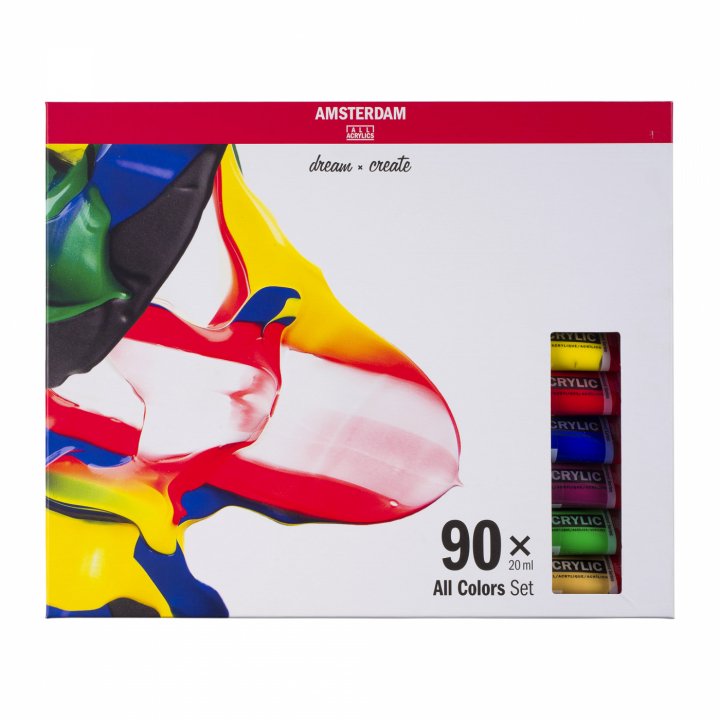Amsterdam Acrylic Standard Set 90 x 20 ml in the group Art Supplies / Colors / Acrylic Paint at Pen Store (111762)