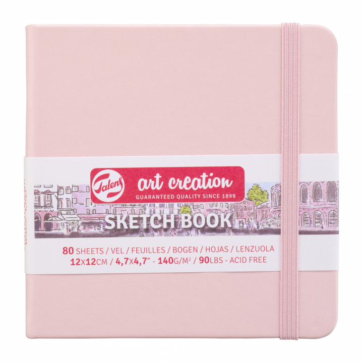 Art Creation Sketchbook Pastel Pink 12x12 cm in the group Nya artiklar at Pen Store (111776)