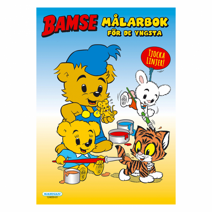 Bamse - A Colouring Book For Young Children in the group Hobby & Creativity / Books / Coloring Books for Kids at Pen Store (111782)