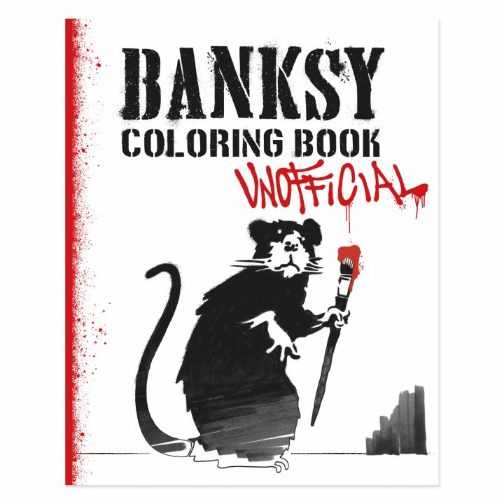 Banksy Coloring Book in the group Hobby & Creativity / Books / Adult Coloring Books at Pen Store (111783)